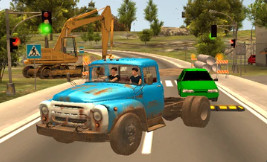 Russian Car Driver ZIL 130